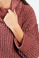 Свитер женский ультрамягкий, свободный фасон 811K001 (Розово-лиловый)