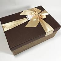 Подарочная коробка с бантом под дерево 3 шт