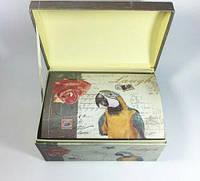 Подарочная коробка сундук попугай