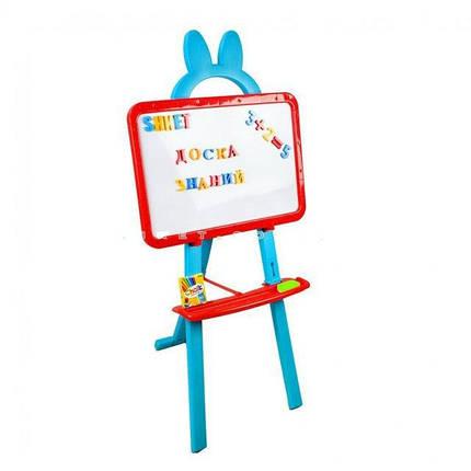 Мольберт 0703 UK-ENG магнит.буквы, 3в1, рус/укр/англ.алфавиты, 3 цвета, в кор-ке, 46-41-6см, фото 2