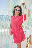 Платье женское летнее 42-46р цвет розовый . бирюза, фото 1