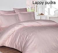 "Постельное белье First Choice (евро-размер) сатин-жаккард ""Lappy Pudra"", фото 1"