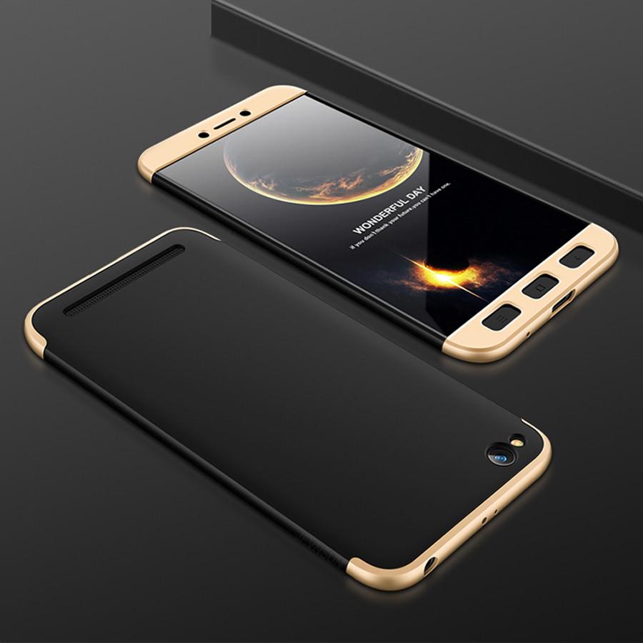 Чехол GKK 360 для Xiaomi Redmi 5A Бампер Black-Gold