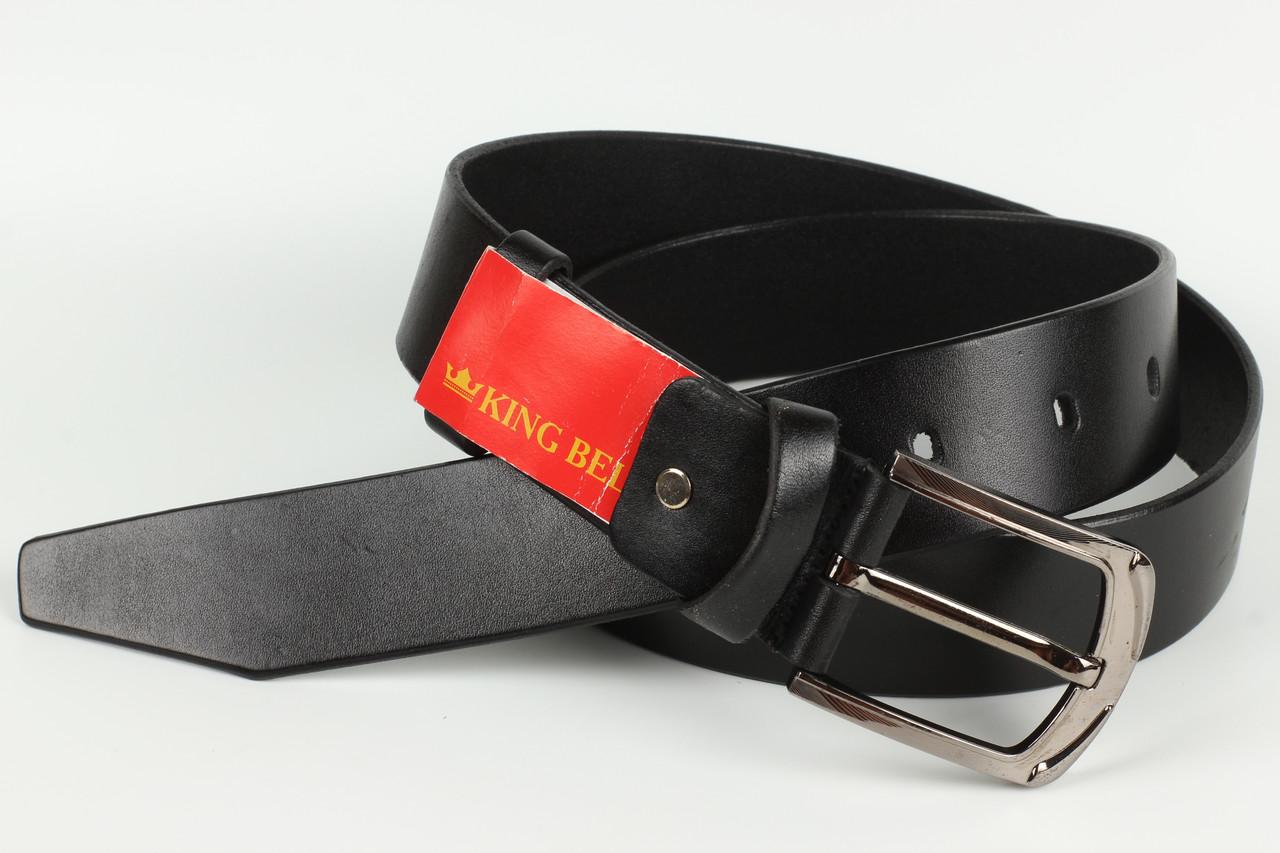 Ремень кожаный брючный King Belts 40 мм гладкий