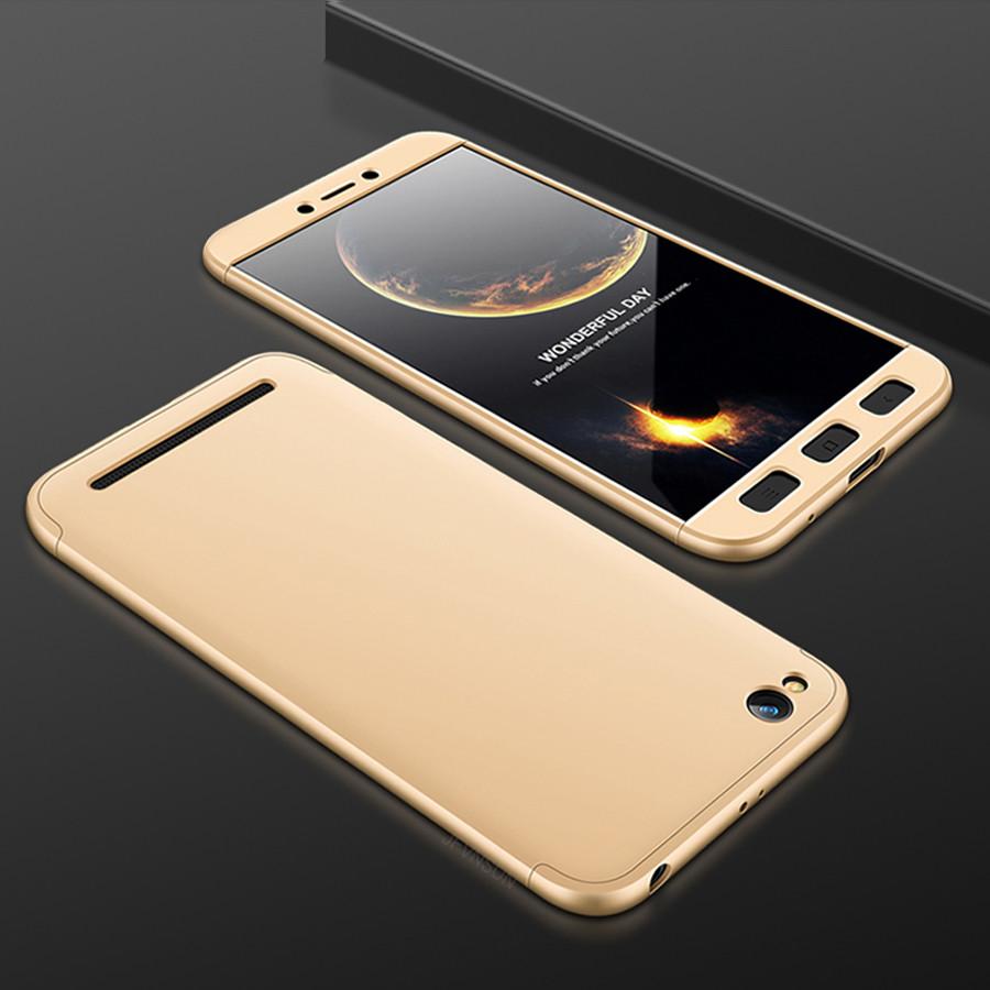 Чехол GKK 360 для Xiaomi Redmi 5A Бампер Gold