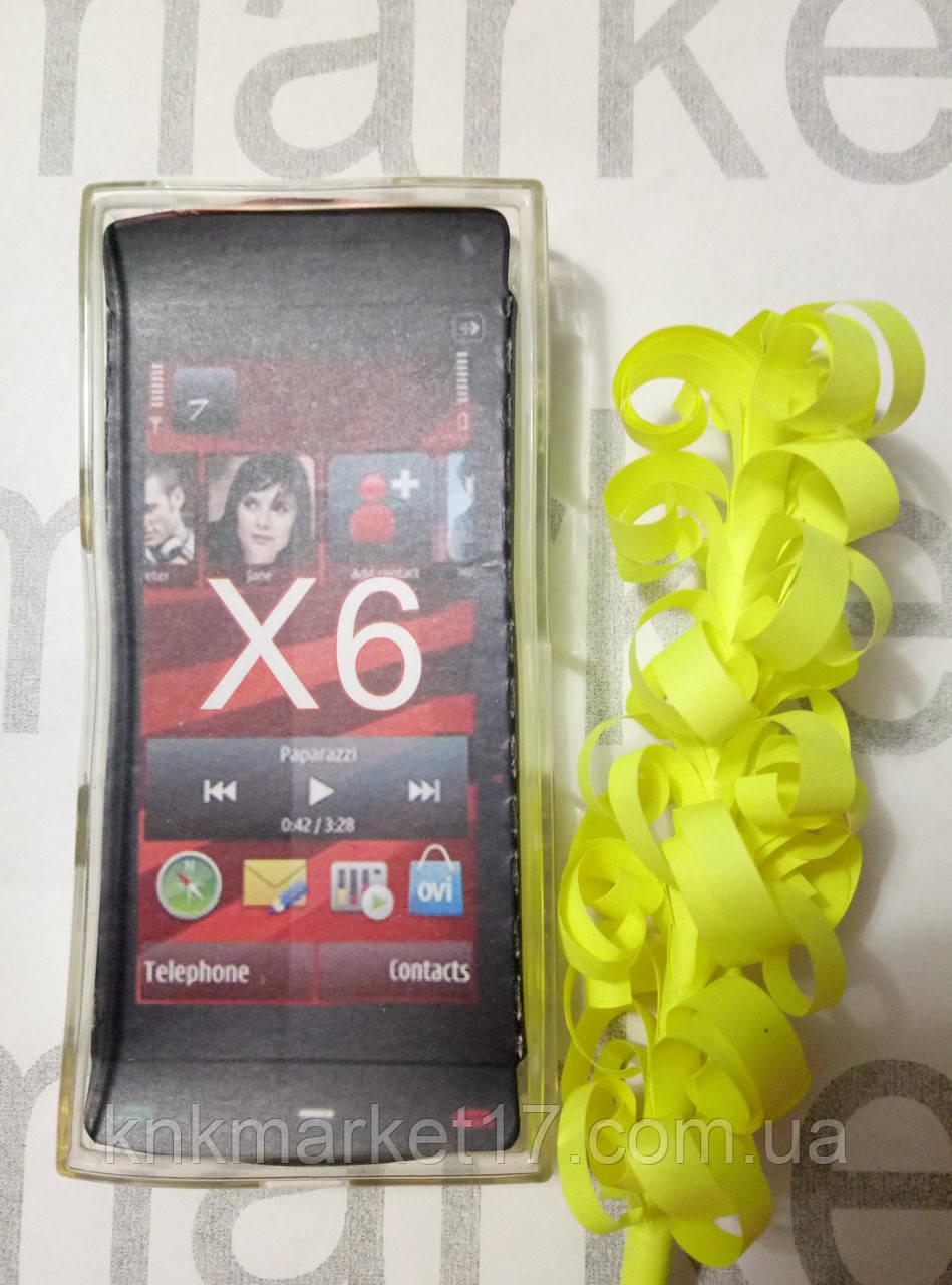 Чохол для Nokia X6 ( прозорий силікон принт)