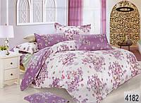 Комплект постельного белья полуторный  Elway 4182 cатин
