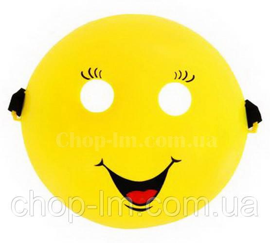 """Маска """"Смайл"""" (Smile mask желтая, карнавальная)"""