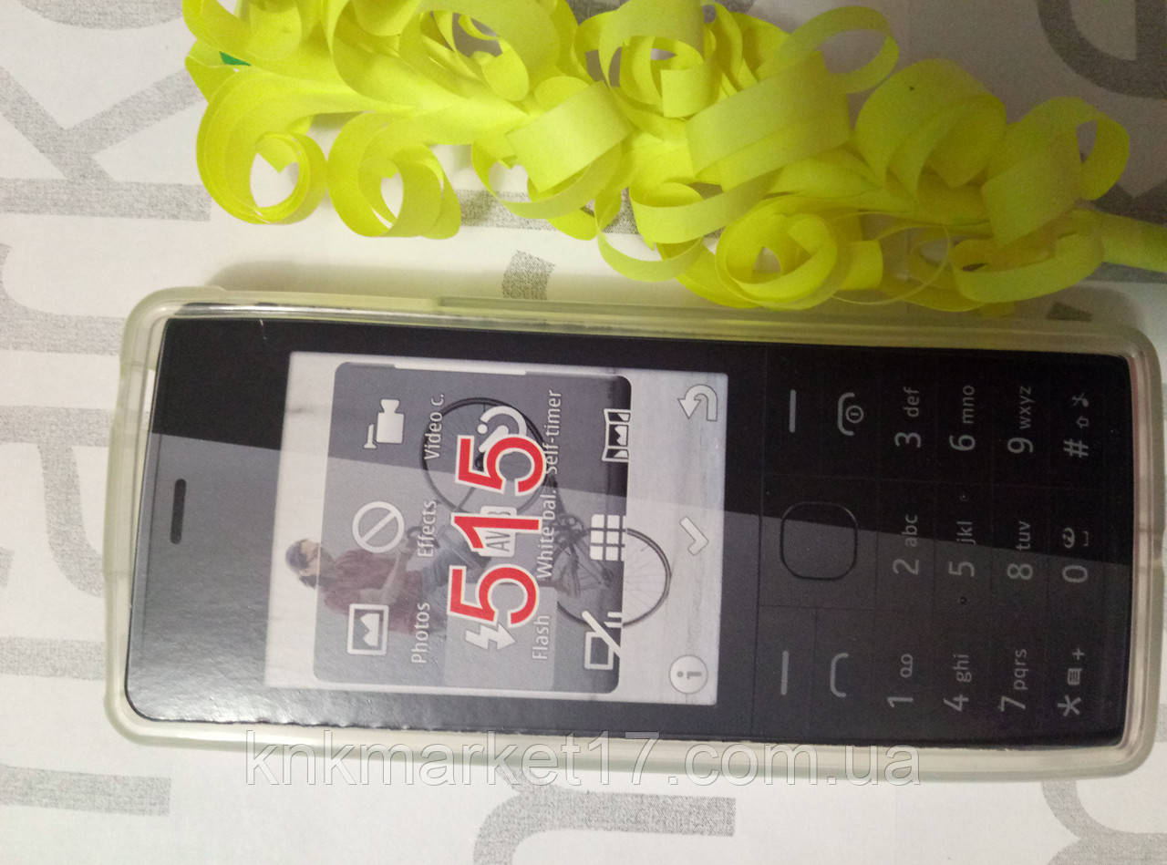 Чохол для Nokia 515 ( білий силікон)