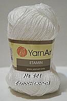 Нитки пряжа для вязания Etamine Этамин от YarnArt Ярнарт № 421 - белоснежный