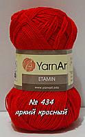Нитки пряжа для вязания Etamine Этамин от YarnArt Ярнарт № 434 - яркий красный
