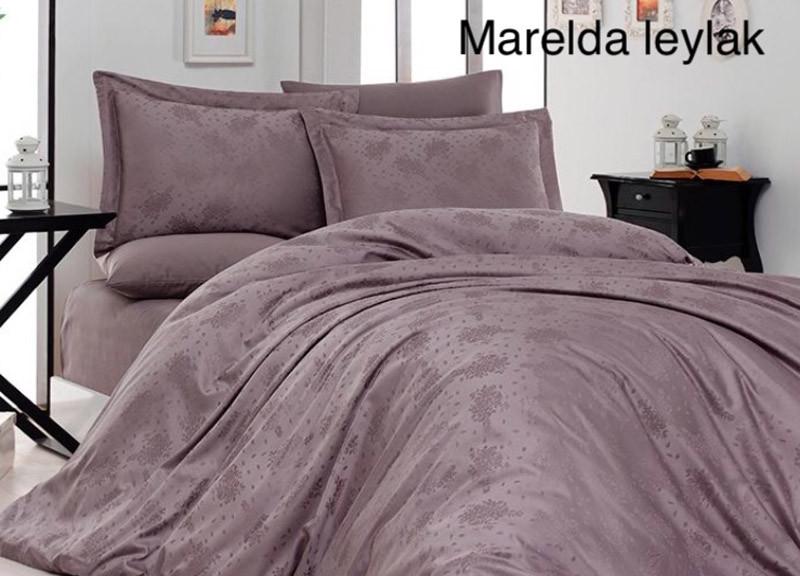 """Постельное белье First Choice (евро-размер) сатин-жаккард """"Marelda Leylak"""""""