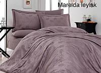 "Постельное белье First Choice (евро-размер) сатин-жаккард ""Marelda Leylak"", фото 1"