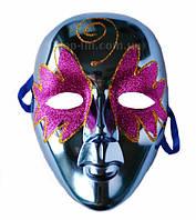 Маска карнавальная / Венецианская (голубая)