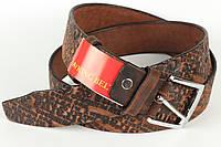 Ремінь шкіряний брючний King Belts 40 мм з тисненням