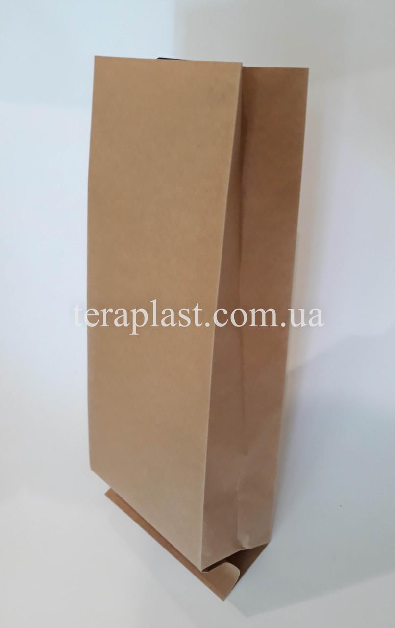 Пакет с центральным швом крафт+металл 250г 80х250х32