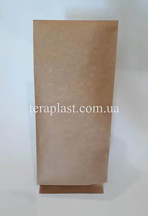 Пакет с центральным швом крафт+металл 250г 80х250х32, фото 3