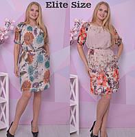 e24d119a752 Летнее шифоновое платье в больших размерах с принтом 6BR699