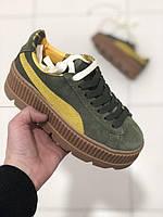 Кроссовки Puma Creeper Platform leather  by Rihanna replica AAA