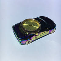 Спиральная USB зажигалка с часами 813