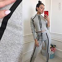 Черный, серый, бордо костюм из рибаны а5454-176, фото 1