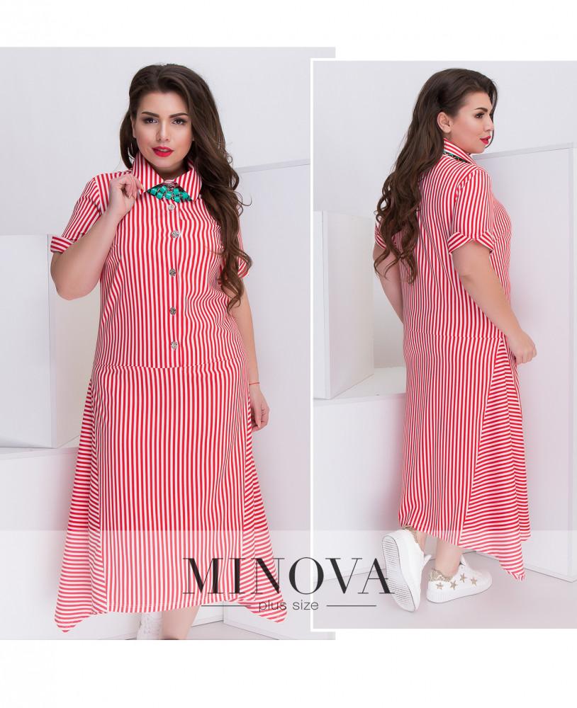 Длинное платье в полоску (в расцветках 54-58)