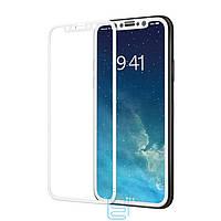 Защитное стекло iPhone X,XS 3D white