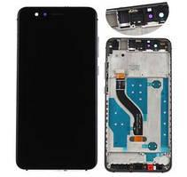 Дисплей модуль Huawei P10 Lite в зборі з тачскріном, чорний, з рамкою