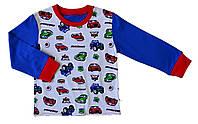 Кофта піжами IziKids CARS 98-104 см Сіро-синя (JZ18U-PIZ-00026-098104-F1)