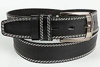 Ремень кожаный брючный 40 мм с тиснением