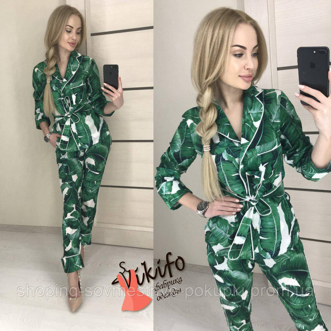 Брючный женский Костюм в пижамном стиле (пиджак+брюки) - МАГАЗИН ОДЕЖДЫ В  УКРАИНЕ dc1e4c1b7a9d1