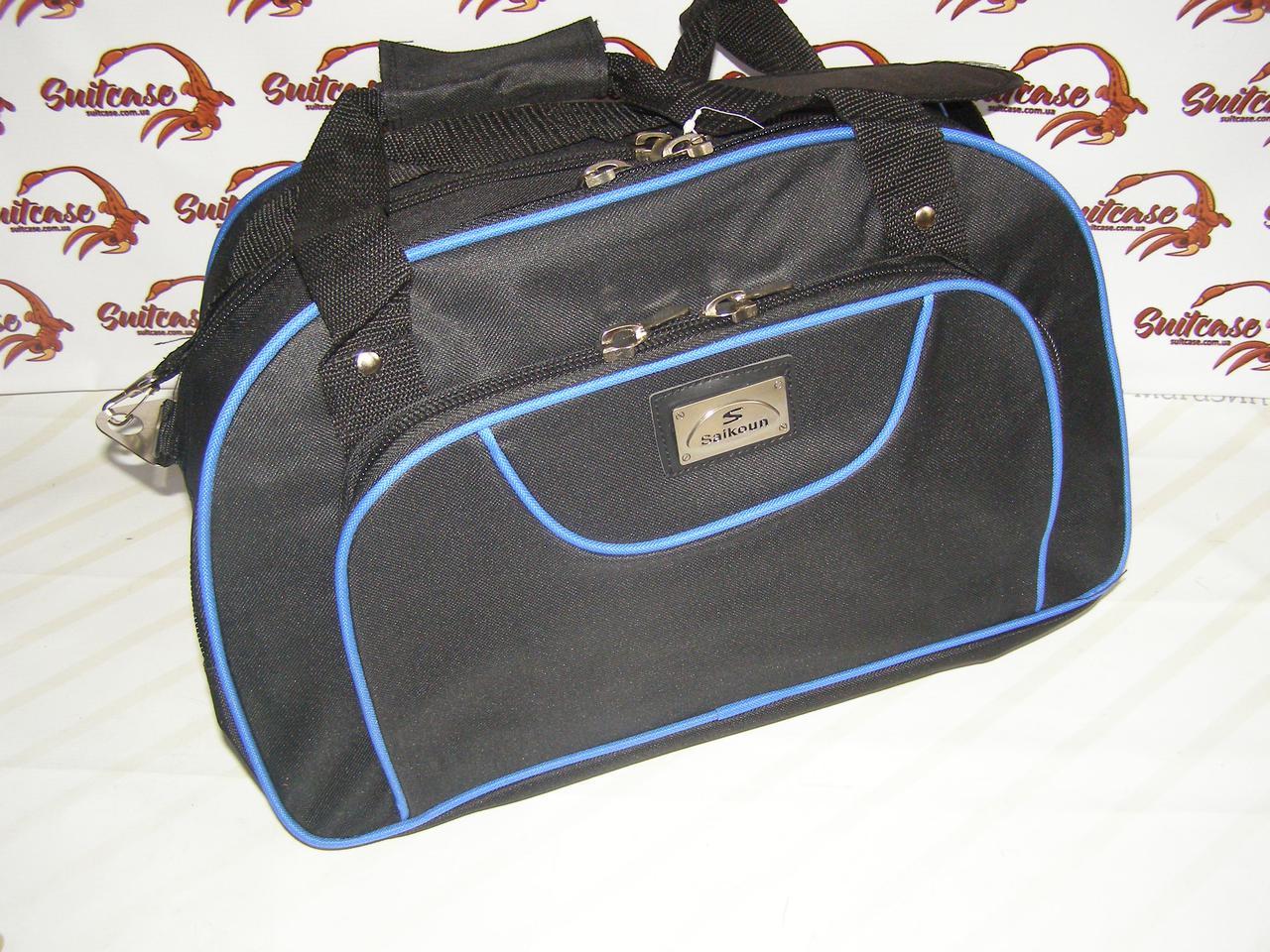 3a3599218244 Сумка овал (Маленькая) Sainkon - черная с синим - Интернет-магазин «Валіза