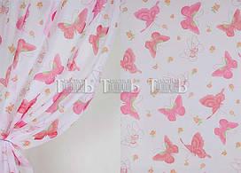 Тюль в детскую комнату для девочки. Бабочки.