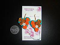 Серьги ручной работы - полимерная глина (пластика). Серьги эксклюзив - Hand made., фото 1