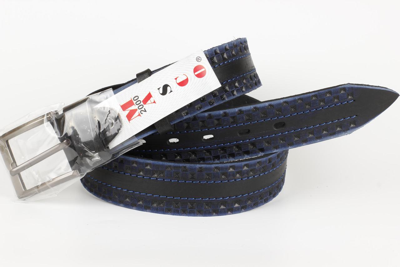 Ремень кожаный джинсовый Masco 40 мм