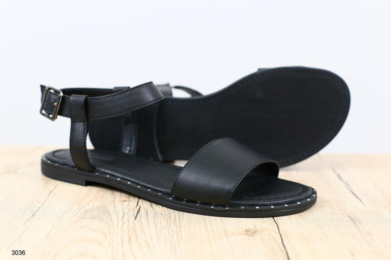 3f79c39f6b80 Женские кожаные босоножки, на низком ходу, цвет : черный Размеры: 36-41  Материал: ...