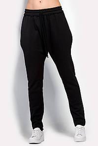 Женские черные зауженные брюки из трехнитки (Bino crd)