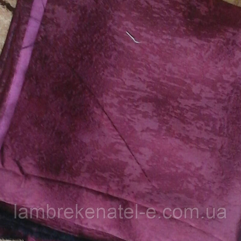 Шторы бордовые ткань