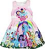Яркое детское платье My little Pony