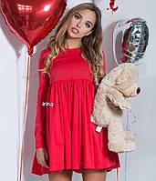 Свободное платье красное, черное, голубое, белое а5454-150, фото 1