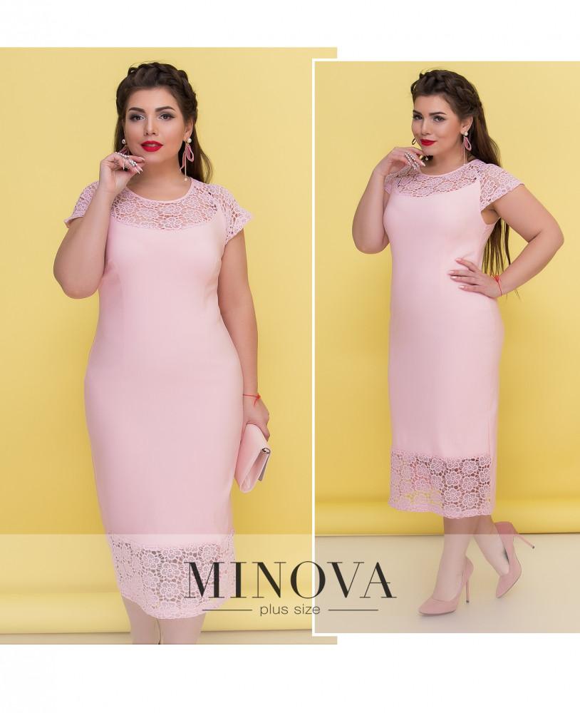 Вечернее платье-футляр 54-64 (в расцветках)