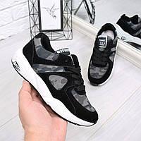 Кроссовки женские War камуфляж черные 4625, спортивная обувь, фото 1