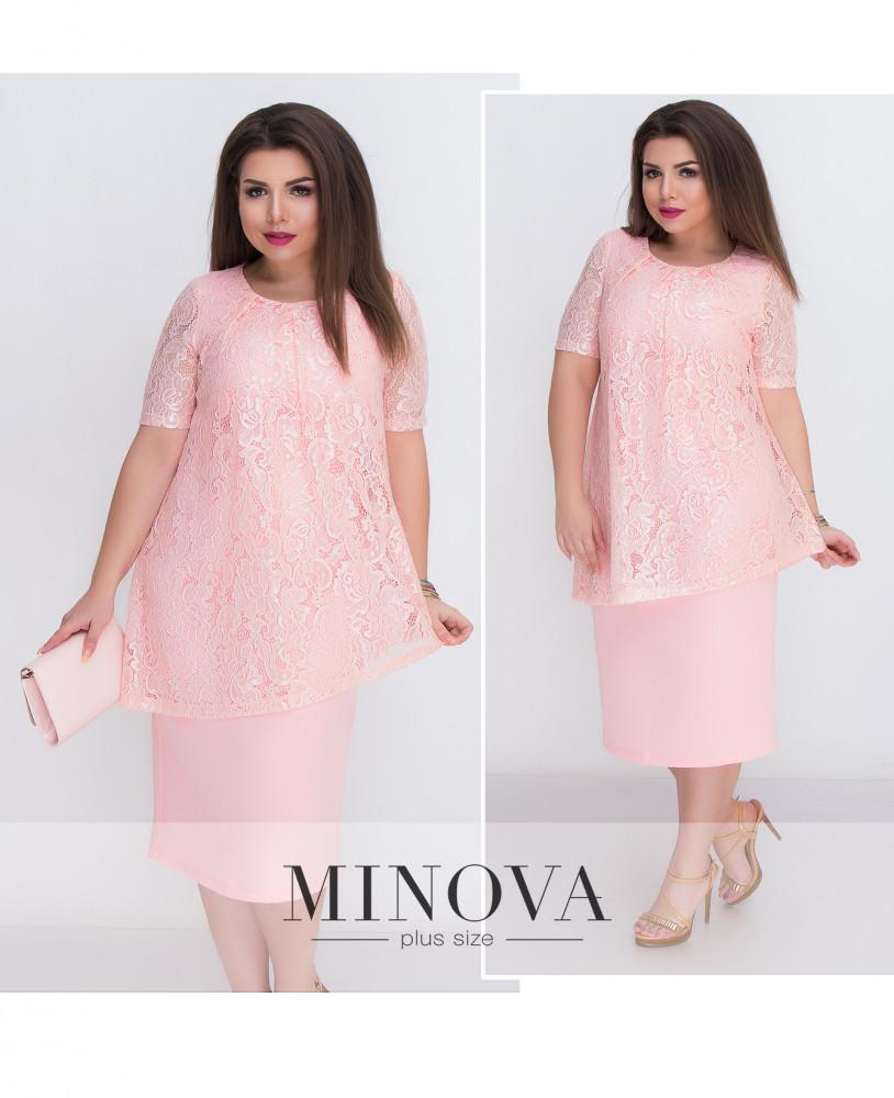 Вечернее платье с гипюровой накидкой (в расцветках)