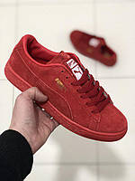 """Кроссовки Puma Suede Classic """"All Red"""" replica AAA"""