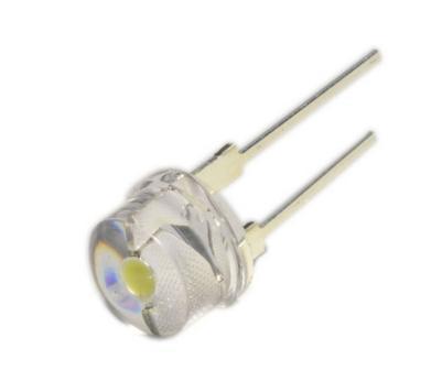 Світлодіод діаметр 8мм (білий, DC 3-3.4 V)