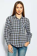 Рубашка женская удлиненная 953K004 (Сине-черный)