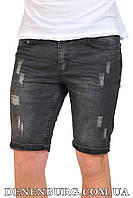 Шорты джинс мужские NORTH RIVER D-180 чёрные, фото 1