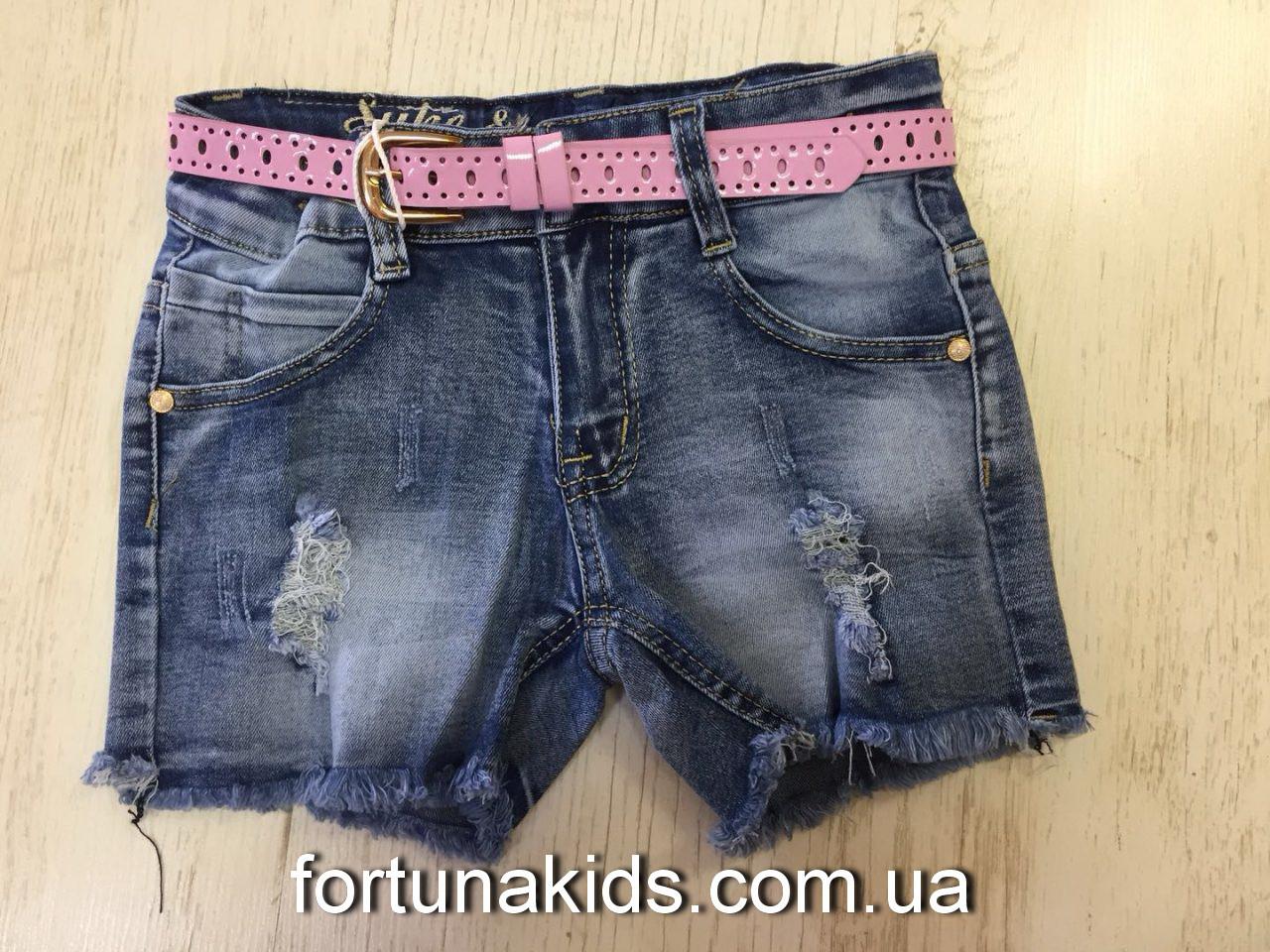 Джинсовые шорты  для девочек Nice Wear 134-164 р.р.
