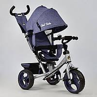 Трехколесный велосипед поворотное сиденье, ткань лен, EVA колеса 5700 - 3760, джинс