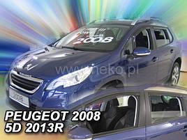 Дефлекторы окон (ветровики)   Peugeot 2008 2013R-> 5D 4шт (Heko)